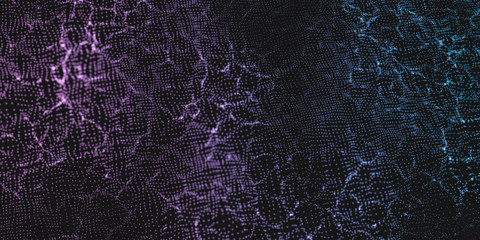 Fotoväggar - Color Wavy Particle Surface Background