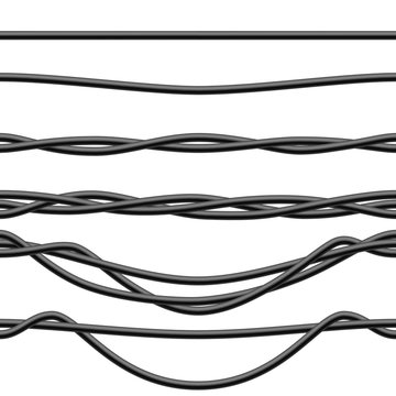 Seamless Black Electric Cables