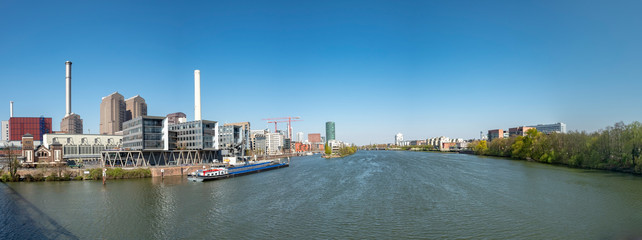 view of Frankfurt with river Main