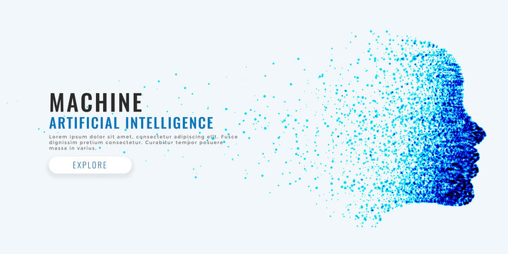 difital face artificial intelligence concept background
