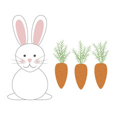 Easter bunny & carrots
