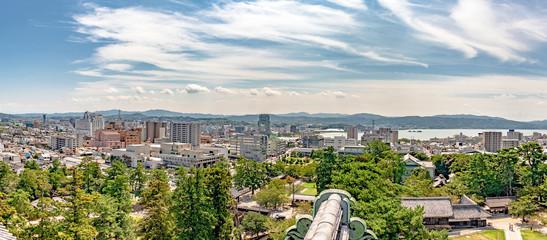松江城天守からの松江市街地の眺望 Fototapete