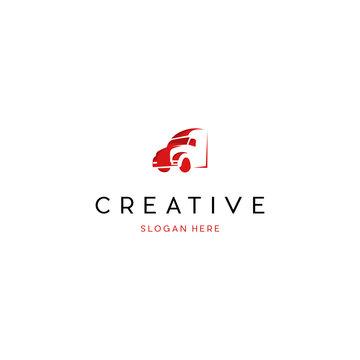Truck Logistic Creative Vector Logo Design