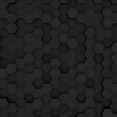 Dark gray hexagon honeycombs abstract background