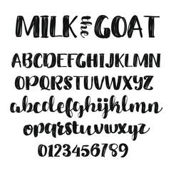 Thick Brush Script Alphabet Font