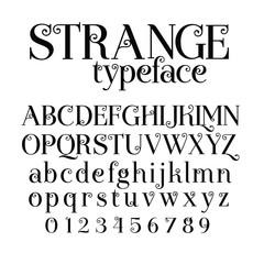 Fancy Calligraphic Alphabet