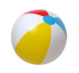 Obraz Beach ball on white - fototapety do salonu