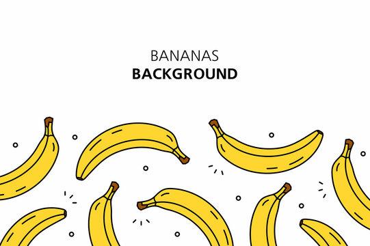Bananas background. isolated on white background