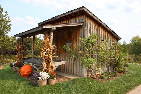 rural wooden hut