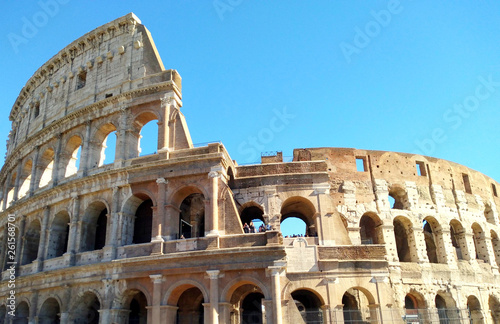 Vista Del Coliseo Romano Stock Photo And Royalty Free Images On