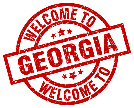 welcome to Georgia red stamp