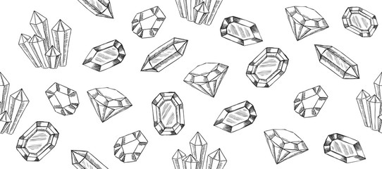 Hand drawn vector crystal.