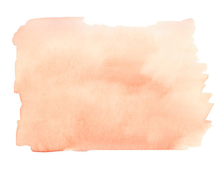 Watercolor abstract background in brown and orange colors