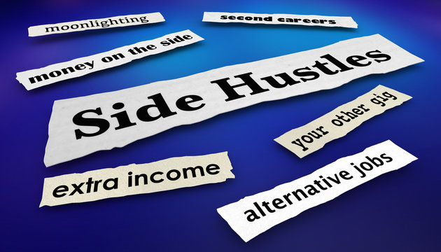 Side Hustles Second Gigs Jobs News Headlines 3d Illustration