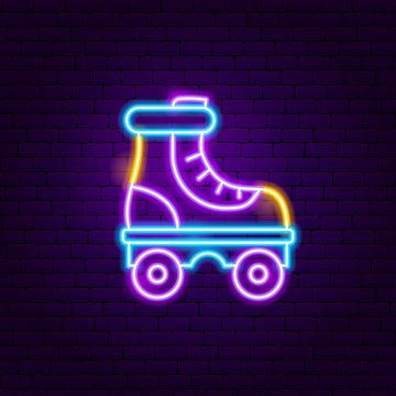 Roller Skate Neon Label