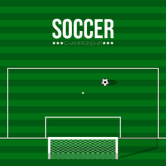 Isolated soccer poster with a field. Vector illustration design