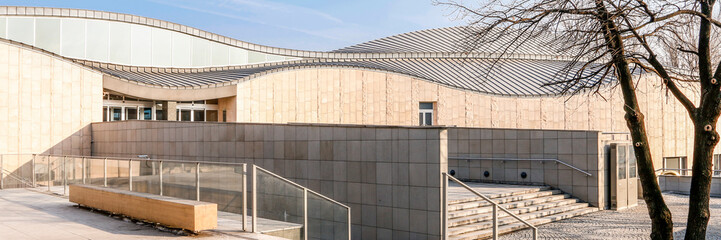 Autocollant pour porte Cracovie KRAKOW, POLAND - MARCH 19, 2016: Panoramic view of Manggha Museum of Japanese Art and Technology