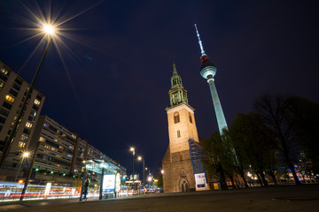 Germany, Berlin, Berlin TV tower, NIght