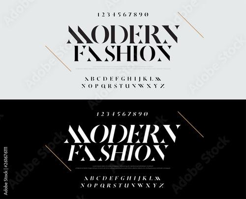 Elegant alphabet letters font set  Typography fashion fonts