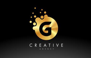 Gold Metal Letter G Logo. G Letter Design Vector