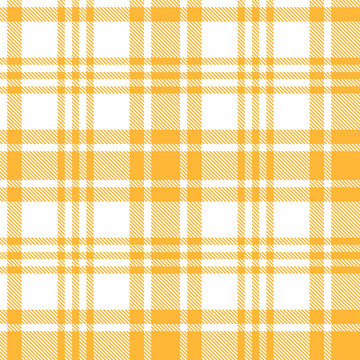 Seamless Pattern Plaid Texture Background, yellow and white
