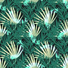 Fototapeta Beautiful Exotic  Leaves Pattern Vector  Illustration for Surface , Invitation , Notebook, Banner