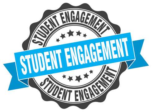 student engagement stamp. sign. seal