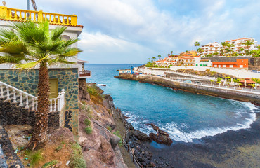 Wall Mural - Puerto de Santiago city,  Atlantic Ocean coast, Tenerife, Canary island, Spain