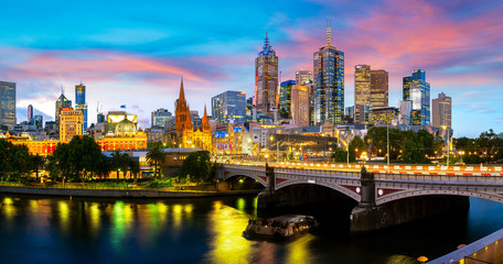 Panorama view of Melbourne city