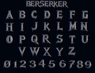 Berserker fantasy alphabet - 3D Illustration