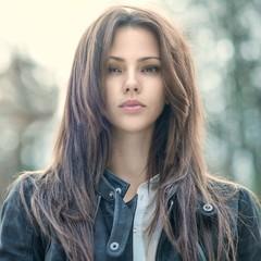Amazing beautiful woman portrait - close up