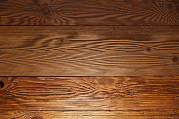 Illuminated wooden wall in a house