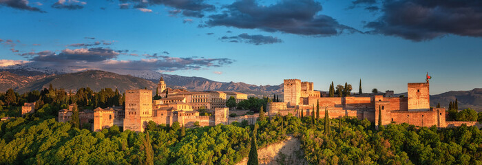 Famous Alhambra in Granada, Spain