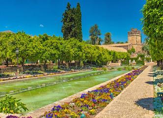 Gardens at the Alcazar de los Reyes Cristianos in Cordoba