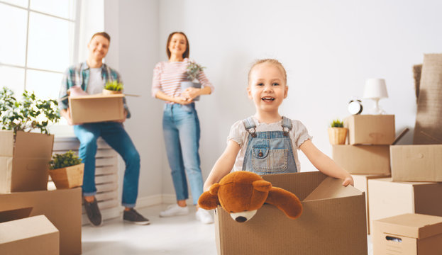 family are moving to new apartment