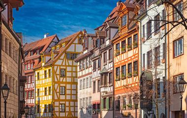Nice houses in the old town of Nuremberg