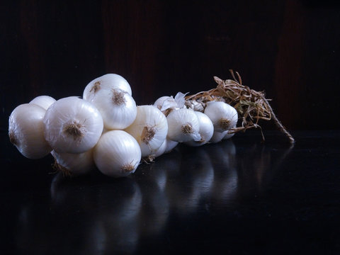 white onion branch for social media template