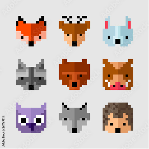 Wild Pixel Animals Forest Animals Pixel Art Wild Fauna