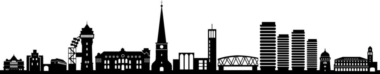 Fototapete - Mülheim Ruhr City Skyline