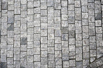 background texture stone pavement / abstract stone background bricks Wall mural