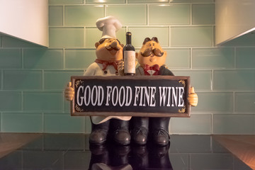 Good Food Fine Wine kitchen french ornaments