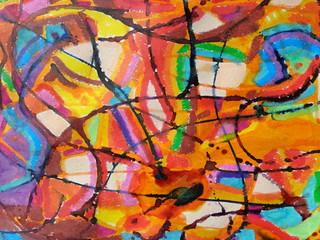 Abstract1 Wall mural