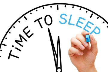 Time To Sleep Clock Concept