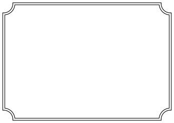 Fototapeta Vector Page border A4 design for project. obraz
