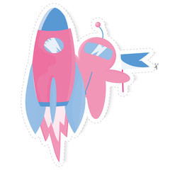 sticker with an astronaut