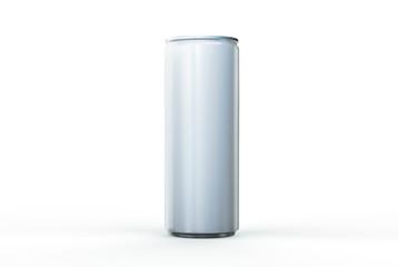 Aluminum can mockup on background. 250ml aluminum soda can mock up.