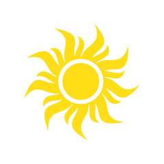 Sun icon on background for graphic and web design. Simple vector sign. Internet concept symbol for website button or mobile app.