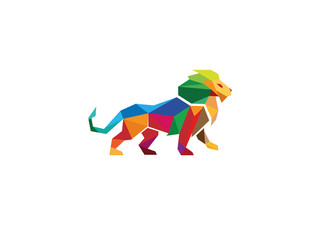 Creative Colorful Lion Logo