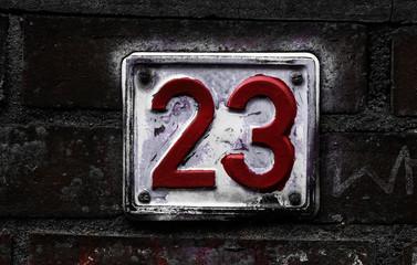 Hausnummer 23