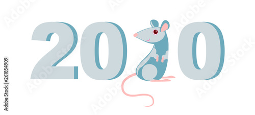 Steel rat - a symbol of the Chinese new year 2020  Sign of the lunar